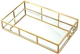 PuTwo Tray Mirror, Gold Mirror Tray Perfume Tray Mirror Vanity Tray Dres... - $34.79