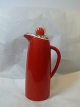 Vintage Carafe Corning Designs Red Silver White - $54.64