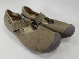 Keen Sienna Mary Jane Women's Canvas Shoe Size US 9.5 M (B) EU 40 Beige 1014217