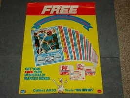 1981 Drakes Snacks MLB Baseball Card Promotional POSTER featuring Pete Rose - $14.00