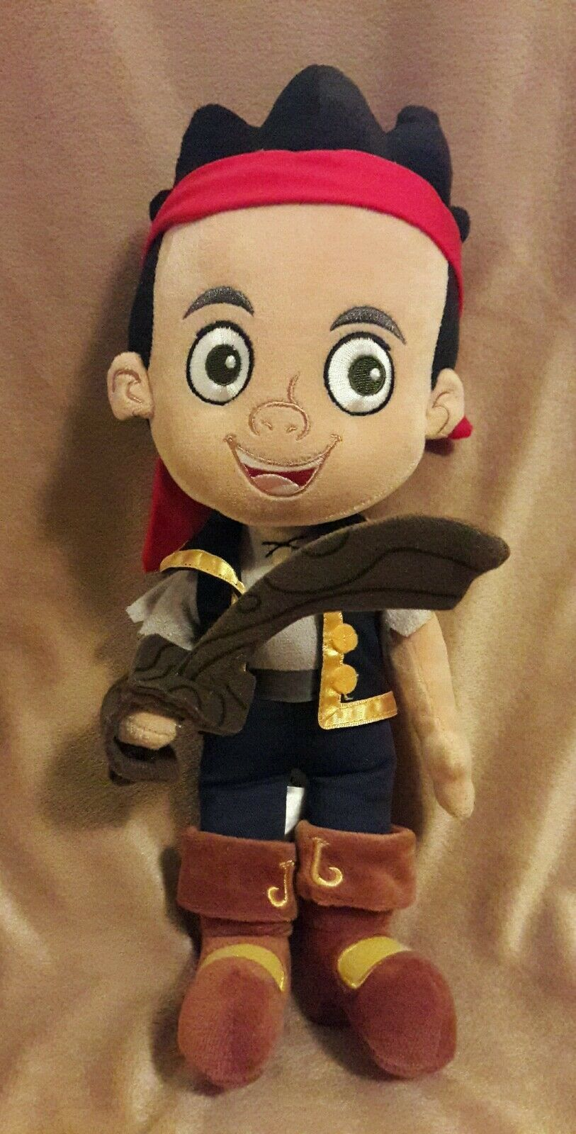 DISNEY STORE Jake & The Never Land Pirates Stuffed Animal JAKE Plush Doll 14""