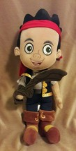 DISNEY STORE Jake & The Never Land Pirates Stuffed Animal JAKE Plush Dol... - $7.69