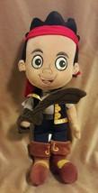 """Disney Store Jake & The Never Land Pirates Stuffed Animal Jake Plush Doll 14"""" - $7.69"""