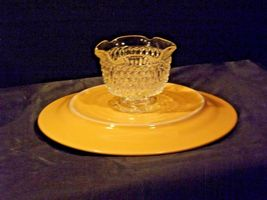 Ceramic Cake Plate and Crystal Cover Heavy AA19-LD11936 Vintage image 7