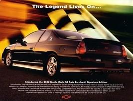 2002 Chevrolet MONTE CARLO SS DALE EARNHARDT Edition brochure sheet Inti... - $8.00