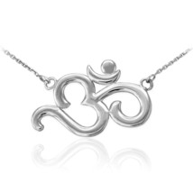 14K White Gold Om (Aum) Yoga Necklace - $199.99+