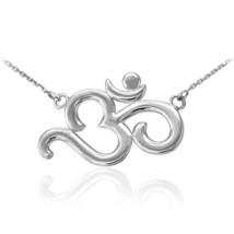 14K White Gold Om (Aum) Yoga Necklace - $199.99+