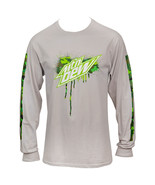 Mountain Dew Symbol Long Sleeve with Sleeve Prints Grey - $36.98+