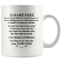 Personalized 11oz Coffee Mug To Our Daughter, Granddaughter, Son, Grandson - $19.95
