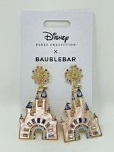 Disney Parks BaubleBar WDW 50th Anniversary Cinderella Castle Earrings N... - $89.09