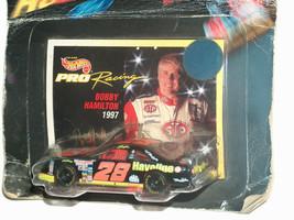 Hot wheels nascar rare 1997 error Bobby Hamilton card ernie irvan diecas... - $17.04