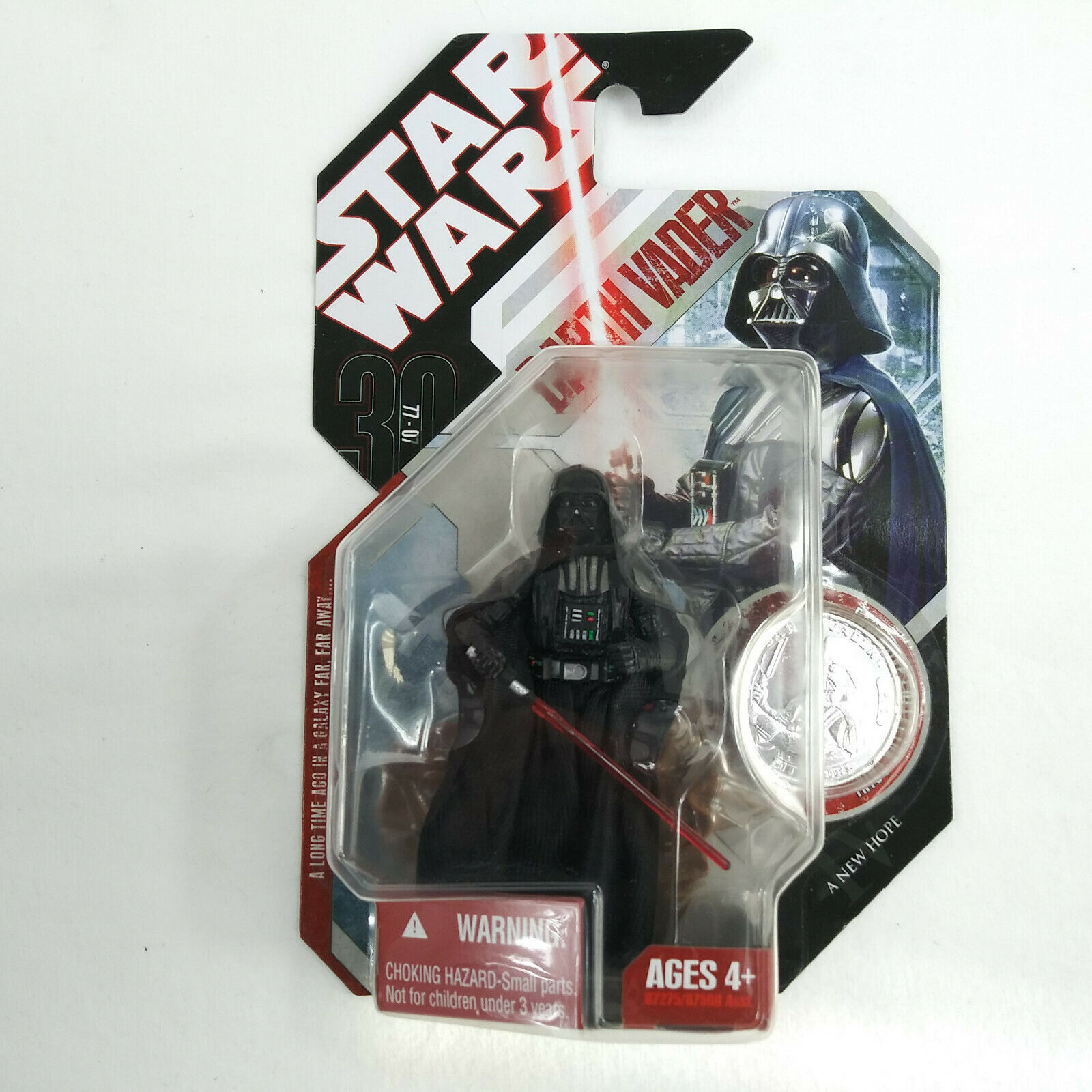 2007 Star Wars 30th Anniversary DARTH VADER Figure #16 A New Hope w/ Coin