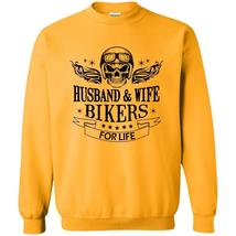 Coolest Biker T Shirt, Husband & Wife Biker For Life Sweatshirt - $16.99+