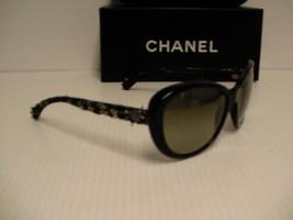 Chanel new sunglasses womens 5241 c.1404/3M 56/17 cat eye green lenses - $178.15