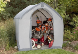 Portable Storage Shed Outdoor Heavy Duty Waterproof Plastic Lightweight ... - $219.88