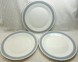 3 ENGLAND ROYAL DOULTON DINNER PLATES GREYFRIARS PATTERN H5068 SILVER ED... - $7.69