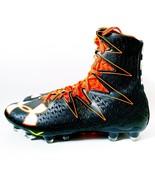 New Under Armour UA Highlight MC Football Cleats Black Orange 1269693-08... - $79.99