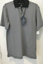 Oxford Golf Super Dry Cool Max Mens XS Black Striped Short Sleeve Polo S... - $22.20
