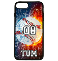 PERSONALIZED NAME NUMBER BASEBALL PHONE CASE COVER FOR IPHONE XS Max XR ... - $11.99+