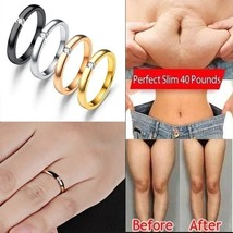 Polished Stainless Steel CZ Weight Loss Ring Magnetic Weight Loss Ring F... - $6.87