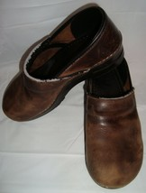 Dansko Professional Clogs 40 Shoes Antique Brown Oiled Leather  - $39.95