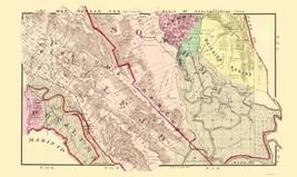 Sonoma  South California Landowner - Thompson 1877 - 23 x 38.63 - $36.95+
