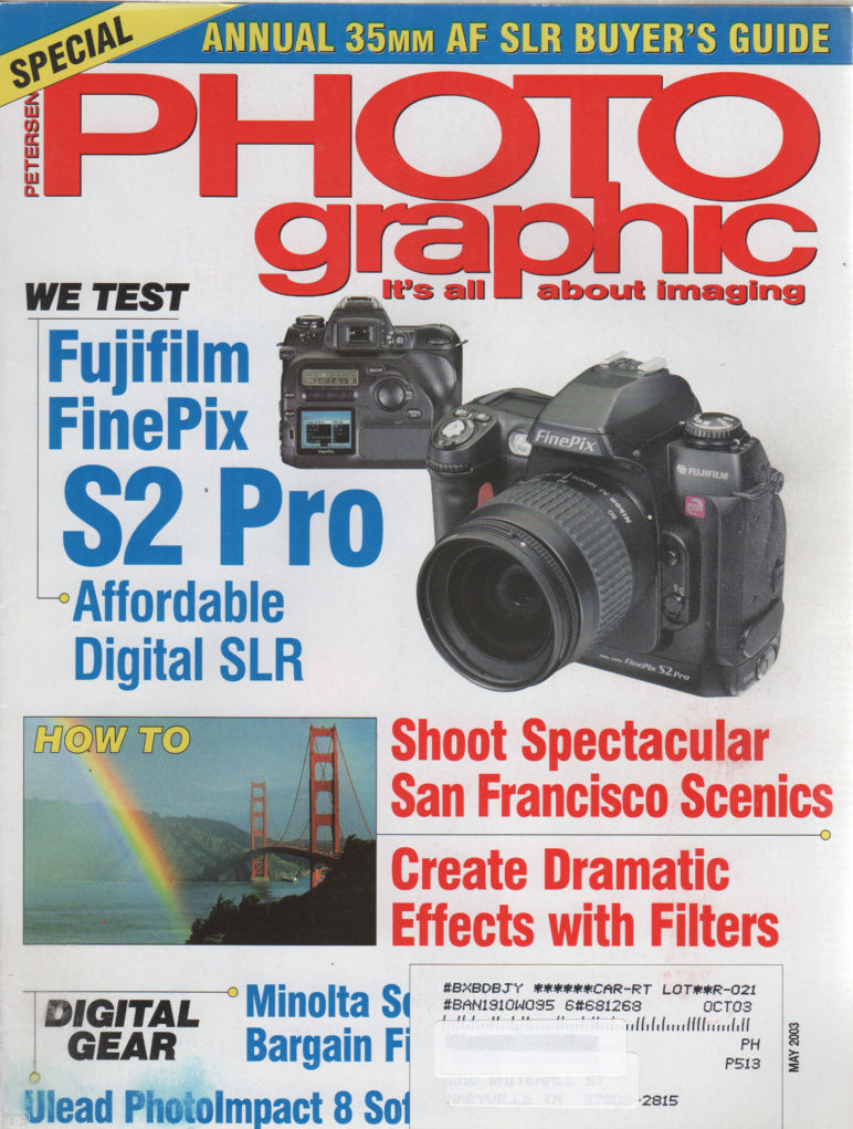 Primary image for Petersen's Photo Graphic Magazine May 2003 AF SLR Buyer's Guide