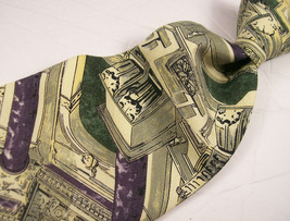 STRUCTURE   Green Cathedral/Pillars Mens 100 SILK Necktie   8 910 - $17.99