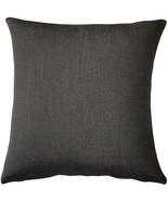Pillow Decor - Sunbrella Rib Taupe-Black Outdoor Pillow 20x20 - $39.95