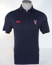Under Armour Texas Tech University Black Short Sleeve Polo Shirt Mens - $67.49