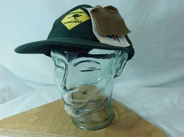 A Discovery Down Under New W Tags Waxed Oil Cloth Oilskin Hat Green Australia image 5