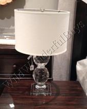 Pottery Barn Carlotta Table Lamp Base 24 Glass Crystal Stacked Sphere Li... - $3.443,18 MXN
