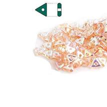 Rosaline AB Czech Glass Sead Tri Beads 4.6mm Tryangle 1.3mm Thick Approx... - $9.27
