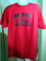 T-Shirt Eight One Eight Volleyball Graphic 2XL Red Sports Athletic Tee G... - $18.55