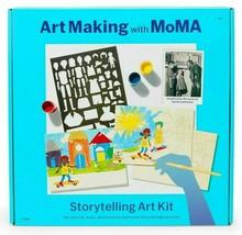 Art Making with MoMA Storytelling Art Kit Stencils Paint Brushes Jacob Lawrence image 1
