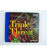 IBM Presents: Triple Threat: An Arcade Adventure PC Windows CD-ROM Game - $19.00
