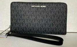 New Michael Kors Jet Set Travel Medium zip around phone holder PVC Black - $69.00