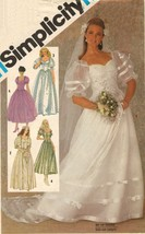 Misses Brides Bridesmaid Off Shoulder Wedding Dress Gown Train Sew Pattern S16 - $13.99