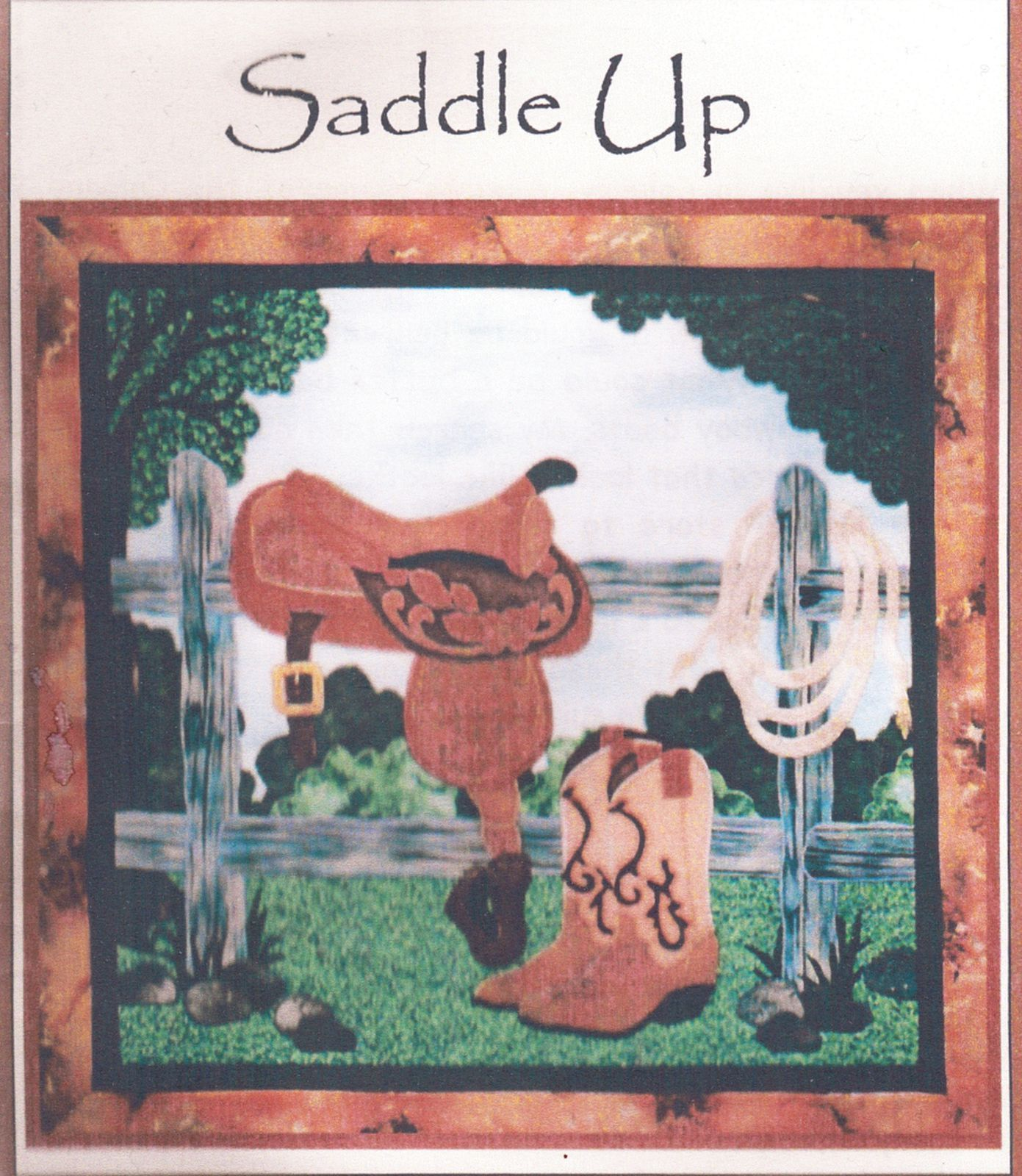 Quilt Western Saddle Up Wall Hanging Joan's Own Creation Applique Sew Pattern - $12.99