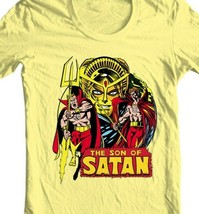 Son of Satan Yellow T Shirt Daimon Hellstrom Vintage 70s Marvel Comics Defenders image 2