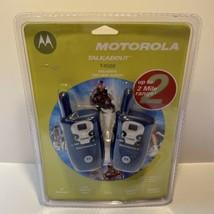 Motorola T4500 Two-Way Radio Walkie Talkie Portable Compact Blue Pair  New - $34.64