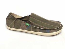 Sanuk Rounder Hobo Classic Funk Olive Green Blanket Slip On Shoes Men's Loafers - $39.99