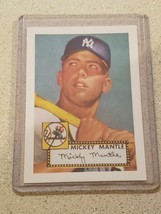 1952 Topps Reprint Mickey Mantle New York Yankees Baseball Card Rookie - $2.00