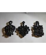 3 Black TRIVETS Hot Pads Decorative Metal , 3 Different Designs, Wall Ha... - $27.43