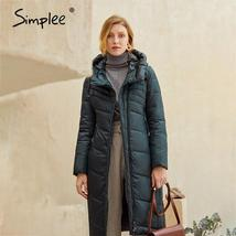 Women's  New Style Warm Solid Quilted Windproof Parka Coat image 4