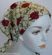 Elegant Rose Cancer Chemo Hair Loss Scarf Turban Alopecia Head Wrap 100% cotton - $16.95