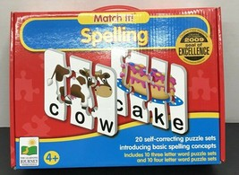 Match It! Spelling Puzzles  - 20 Puzzles For Ages 4+ - $4.50