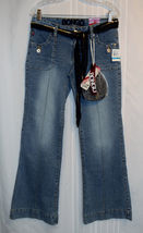 "NWT BONGO Jeans JR Size 9 with 32"" Waist X 32"" Long Scarf belt & match h... - $17.99"