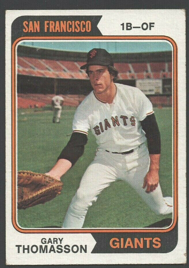 Primary image for San Francisco Giants Gary Thomasson 1974 Topps Baseball Card 18 vg