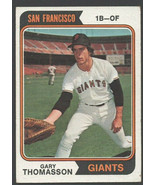 San Francisco Giants Gary Thomasson 1974 Topps Baseball Card 18 vg - $0.50